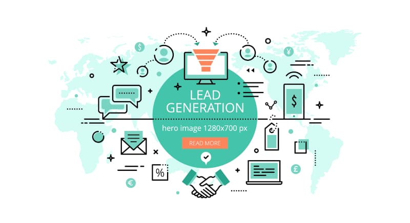illustration of an online lead generation strategy